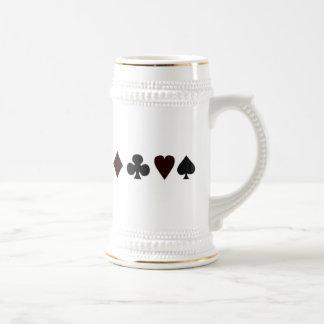 Juegos de la tarjeta del vintage del punto de la r tazas de café