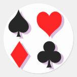 Juegos de la tarjeta pegatina redonda