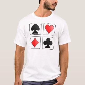 Juegos de las tarjetas, diamantes, espadas, playera