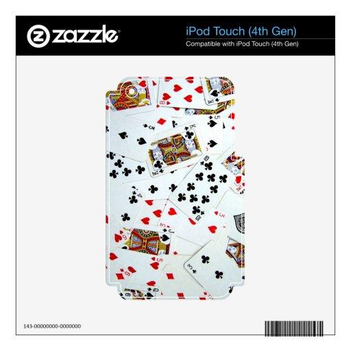 Juegos de naipe iPod touch 4G calcomanías