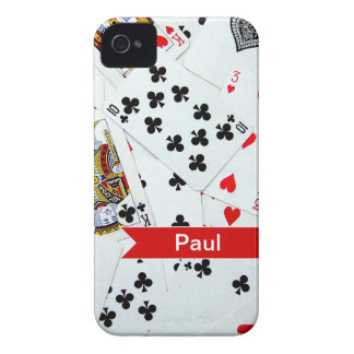 Juegos de naipes personalizados Case-Mate iPhone 4 funda