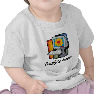Juegos de ordenador del ayudante del papá camiseta