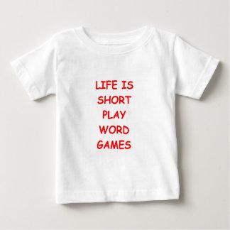 juegos de palabra playera de bebé