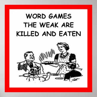 juegos de palabra póster