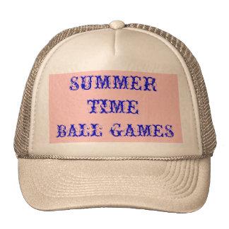 Juegos de pelota del tiempo de verano gorro