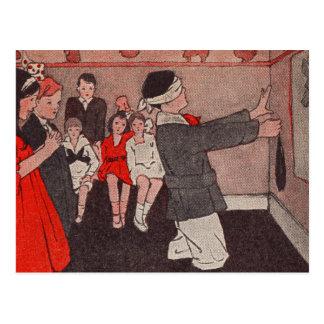 Juegos de sociedad del vintage - Pin la cola en el Postal