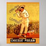 Juegos de sociedad franceses del payaso del chocol póster