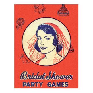 Juegos de sociedad nupciales de ducha del kitsch postales