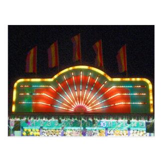 Juegos del carnaval del verano postales