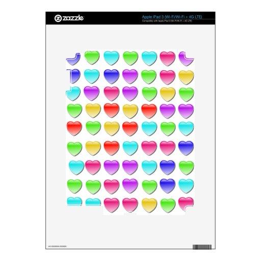 Juegos del desplome del corazón iPad 3 pegatina skin
