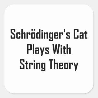 Juegos del gato de Schrodinger con teoría de la Pegatina Cuadrada