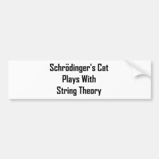Juegos del gato de Schrodinger con teoría de la se Pegatina Para Auto