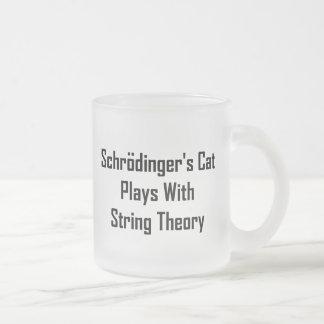 Juegos del gato de Schrodinger con teoría de la se Taza Cristal Mate