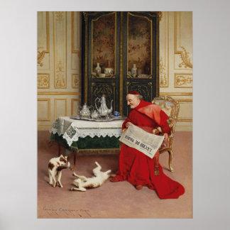 Juegos del gato - gatos de observación cardinales impresiones