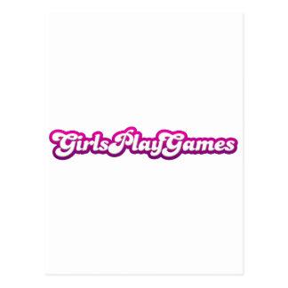 Juegos del juego de los chicas - mujeres de los vi tarjeta postal