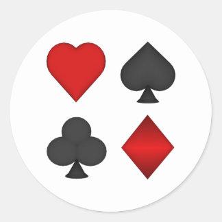 Juegos del naipe: pegatina redonda