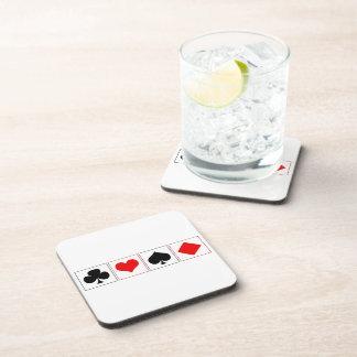 Juegos del naipe posavasos de bebidas