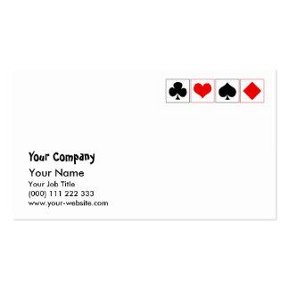Juegos del naipe tarjetas de visita