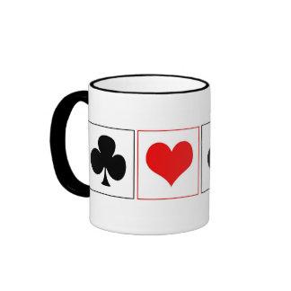 Juegos del naipe taza de dos colores