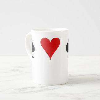 Juegos del naipe taza de porcelana