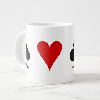 Juegos del naipe taza grande
