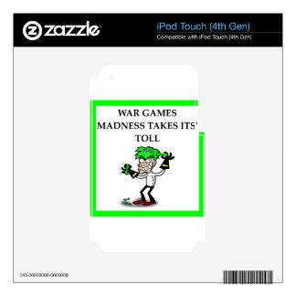 juegos del wa calcomanías para iPod touch 4G
