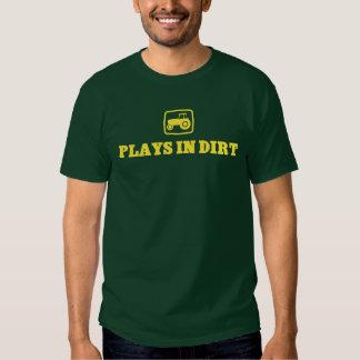 Juegos en camiseta de la suciedad playera