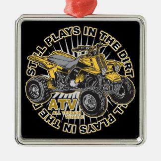 Juegos en la suciedad ATV Ornamento Para Arbol De Navidad