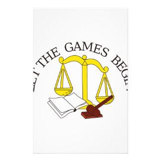 Juegos legales papelería de diseño