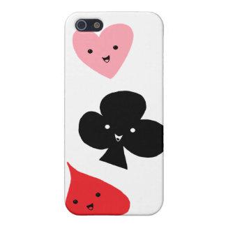 Juegos lindos del naipe iPhone 5 cárcasa