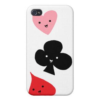 Juegos lindos del naipe iPhone 4/4S carcasa