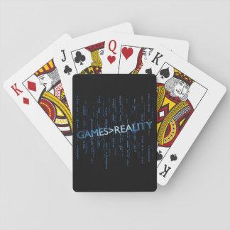Juegos mayores que realidad baraja de cartas