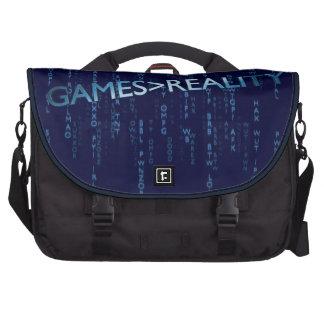 Juegos mayores que realidad bolsas para portatil