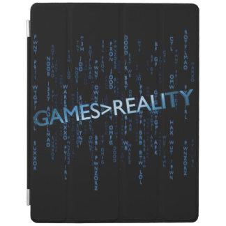 Juegos mayores que realidad cubierta de iPad