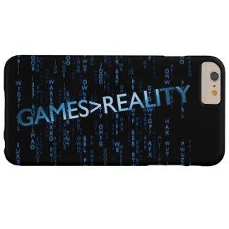 Juegos mayores que realidad funda para iPhone 6 plus barely there