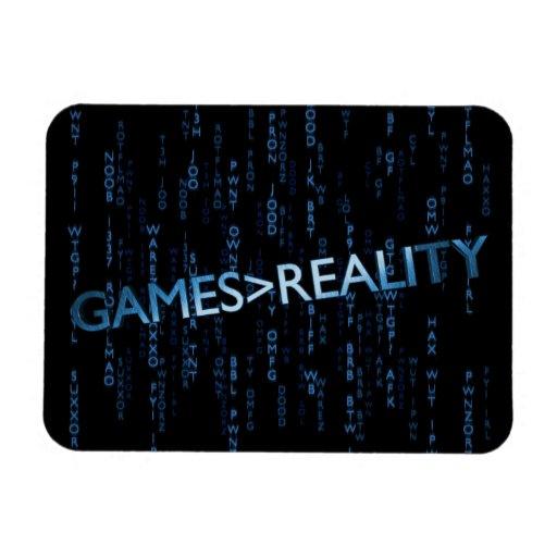 Juegos mayores que realidad imanes