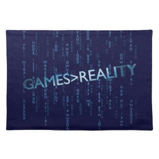 Juegos mayores que realidad mantel individual