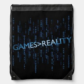Juegos mayores que realidad mochilas