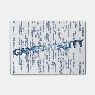 Juegos mayores que realidad notas post-it
