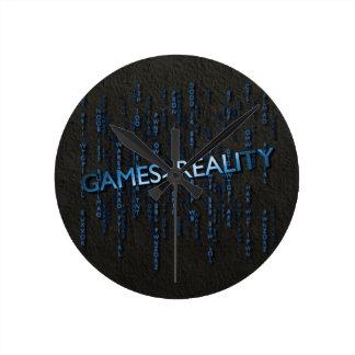 Juegos mayores que realidad reloj redondo mediano