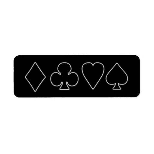 Juegos negros y blancos 1 de la tarjeta etiqueta de remite