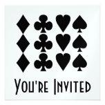 Juegos negros y blancos 1 de la tarjeta invitaciones personalizada