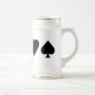 Juegos negros y blancos 1 de la tarjeta tazas