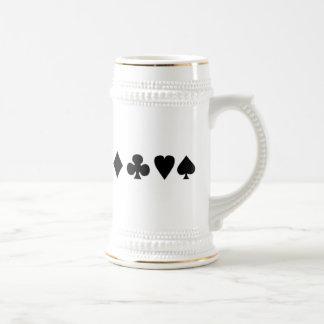 Juegos negros y blancos de la tarjeta tazas de café