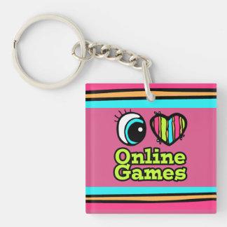 Juegos onlines brillantes del amor del corazón I d Llaveros