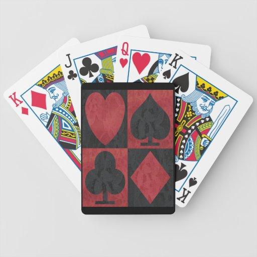 Juegos rojos y negros en cordón baraja