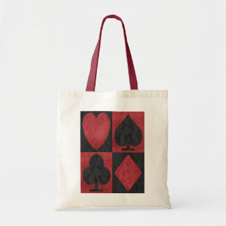 Juegos rojos y negros en cordón bolsa de mano