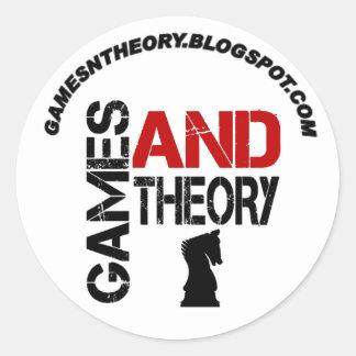 Juegos y pegatina de la teoría