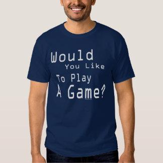 Juegue a un juego (oscuro) playeras
