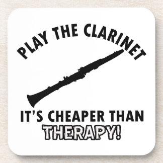 Juegue el clarinet posavasos de bebidas